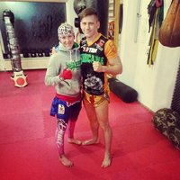 Christin Fiedler Training mit K1 Max Champion 2014 Enriko Kehl