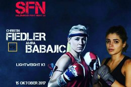 Christin Fiedler bei der Salzburger Fightnight