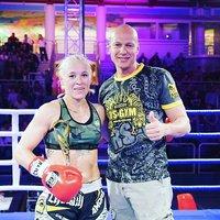 Christin Fiedler Siegreich bei Salzburger Fightnight